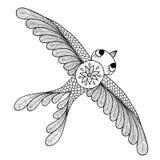 Modelo para el libro de colorear Henna Mehendi Tattoo Style Fotografía de archivo