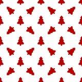 Modelo para el papel de embalaje Árbol de navidad rojo Foto de archivo libre de regalías