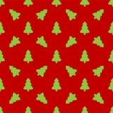 Modelo para el papel de embalaje Árbol de navidad verde Foto de archivo libre de regalías