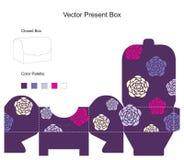 Modelo para el rectángulo de regalo stock de ilustración