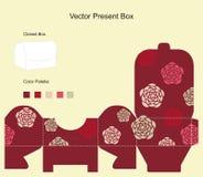 Modelo para el rectángulo de regalo ilustración del vector