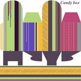 Modelo para el regalo del rectángulo (caramelos) Stock de ilustración