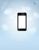 Modelo para el teléfono elegante y la compañía telefónica móvil stock de ilustración