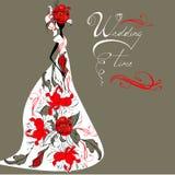 Modelo para la invitación de boda Fotos de archivo