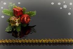 Modelo para la tarjeta de Navidad Fotos de archivo libres de regalías