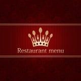 modelo para un menú del restaurante Imágenes de archivo libres de regalías