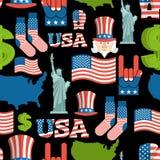 Modelo patriótico de los símbolos de América Ornamento del nacional de los E.E.U.U. ilustración del vector