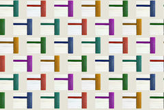 Modelo - pila de libros en color Imagen de archivo