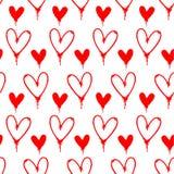Modelo pintado espray rojo de los corazones Fotografía de archivo libre de regalías