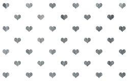 Modelo pintado plata de los corazones Imágenes de archivo libres de regalías