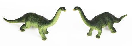 Modelo plástico del juguete del diplodoc del dinosaurio verde imágenes de archivo libres de regalías
