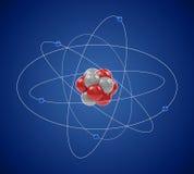 Modelo planetario del átomo stock de ilustración