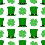 Modelo plano del día del St Patricka Fotografía de archivo