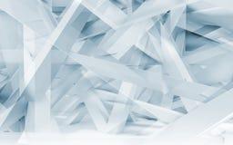 Modelo poligonal de las vigas caóticas 3d entonado azul libre illustration