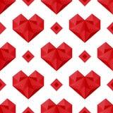 Modelo poligonal de los corazones Fotos de archivo