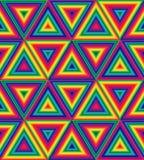 Modelo poligonal del arco iris inconsútil Modelo geométrico del extracto del triángulo Conveniente para la materia textil, la tel ilustración del vector