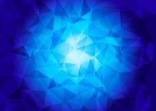 Modelo poligonal en un fondo azul ilustración del vector