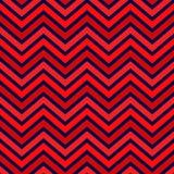 Modelo popular del galón del zigzag en color rojo ilustración del vector