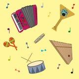 Modelo popular ruso de los instrumentos musicales Imágenes de archivo libres de regalías