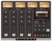 Modelo portable del estudio de grabación del vector con ico Fotografía de archivo libre de regalías