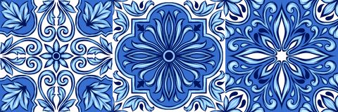 Modelo portugués de la baldosa cerámica del azulejo libre illustration