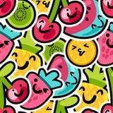 Modelo precioso de la mezcla de las bayas y de las frutas stock de ilustración
