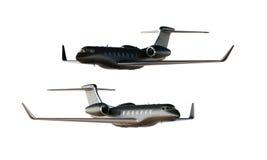 Modelo preto do avião de Matte Luxury Generic Design Private da foto Modelo claro fundo branco vazio isolado Negócios Imagem de Stock Royalty Free
