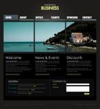 Modelo profesional del Web site Imagen de archivo libre de regalías