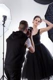 Modelo profissional no trabalho Fotografia de Stock Royalty Free