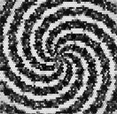Modelo que remolina blanco y negro retro abstracto de los cubos y de los espirales del mosaico ilustración del vector