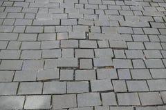 Modelo quebrado del pavimento de adoquín de la calle Imagenes de archivo