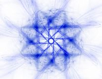 modelo radial del fractal a propósito de la ciencia, de la tecnología y del diseño foto de archivo