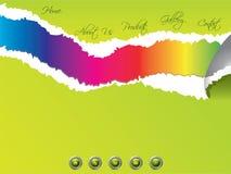 Modelo rasgado del Web site con color del arco iris stock de ilustración