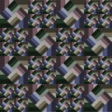 Modelo rayado abstracto con los diamantes en cuadrados rayados Imagen de archivo