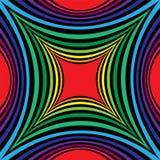 Modelo rayado colorido y negro del rectángulo cóncavo Efecto visual del volumen Fondo abstracto geométrico poligonal conveniente ilustración del vector