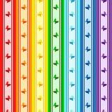 Modelo rayado del arco iris Fotografía de archivo