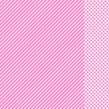 Modelo rayado geométrico con las líneas continuas blancas con el parte movible a cuadros en fondo rosado Vector libre illustration