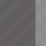 Modelo rayado geométrico con las líneas continuas negras con el parte movible a cuadros en el fondo blanco Vector stock de ilustración
