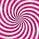 Modelo rayado magenta rosado blanco del espiral del remolino Fotografía de archivo libre de regalías