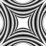 Modelo rayado monocromático del rectángulo cóncavo que riela suavemente de luz a la oscuridad Efecto visual del volumen Geométric libre illustration