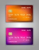 Modelo realístico ajustado do cartão de banco do crédito do vetor Foto de Stock Royalty Free