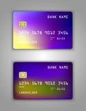 Modelo realístico ajustado do cartão de banco do crédito do vetor Fotografia de Stock Royalty Free