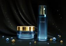 Modelo realístico do vetor do produto dos cosméticos das mulheres ilustração royalty free