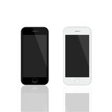 Modelo realístico dos smartphones Smartphones do vetor isolados no fundo branco Fotografia de Stock Royalty Free