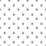 Modelo realista aislado detalle denso negro de Halloween del insecto de la araña en blanco stock de ilustración