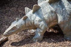 Modelo realista del dinosaurio - Stegosaurus Fotos de archivo libres de regalías