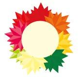 Modelo redondo de la caída de Autumn Background Abstract Leaves para sus banderas, papeles pintados, correo, diseño, venta, tarje Imagenes de archivo