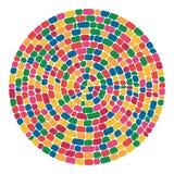 Modelo redondo del mosaico colorido abstracto del vector libre illustration