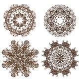 Modelo redondo del ornamento de la mandala Foto de archivo