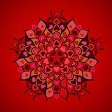 Modelo redondo ornamental de los corazones Imagen de archivo libre de regalías